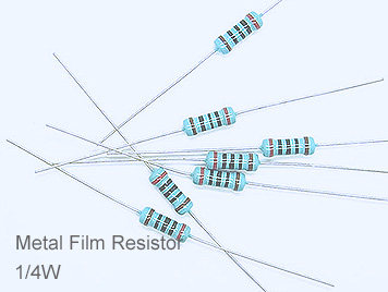 1/4W Metal Film Resistor Pack,130 Kinds,Each 20pcs,Total 2600pcs,Sample Book.
