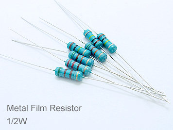 1/2W Metal Film Resistor Pack,127 Kinds,Each 10pcs,Total 1270pcs,Sample Book.