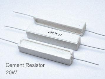 (5pcs) DIP Ceramic Resistor 5% 20W 500Ω(500R)