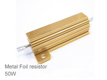 (1pcs) DIP Aluminium Clad Power Resistor 5% 50W 2.2Ω(2.2R)