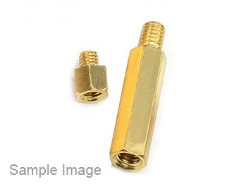 Brass Screw Bolt Single Head Hexagon M3*11 6(50PCS)