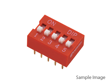 DIP Switch Red 2 Position 2P Terminal Pitch 2.54mm (10pcs)