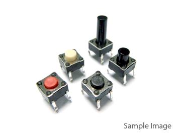 Pushbutton Switch Micro Switch Two Horizontal Pins with Brace 6x6x6mm (20pcs)