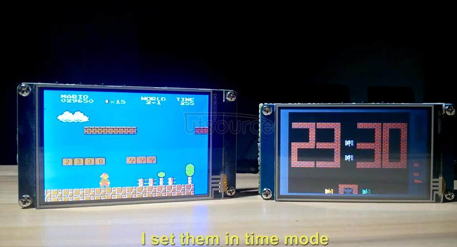 Homemade a electronic clock on video game