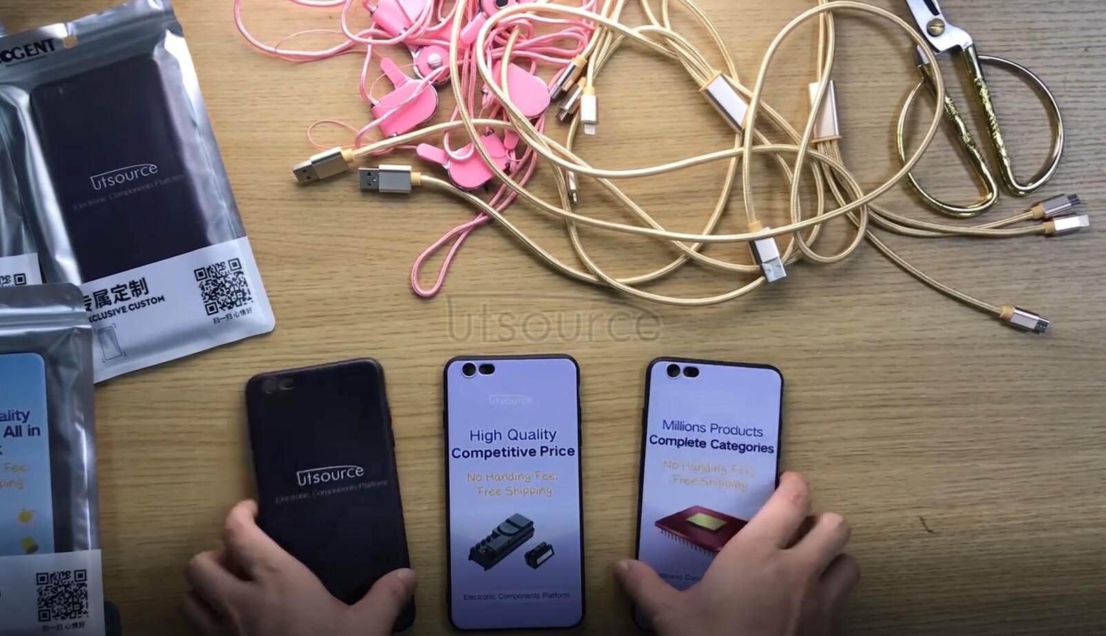 Unboxing video of Utsource custom phone cases