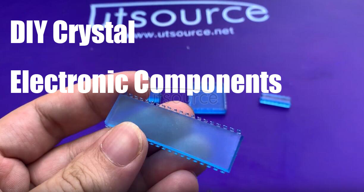 DIY crystal electronic components with silicone mold, do you want to have a try? Utsoruce