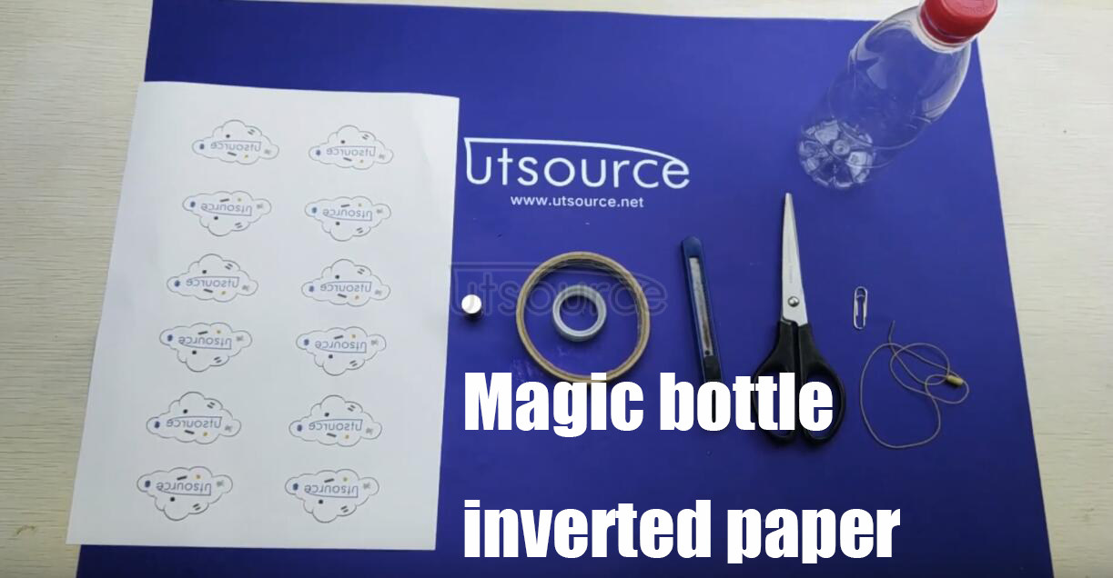 Magic bottle, inverted paper. from utsource.