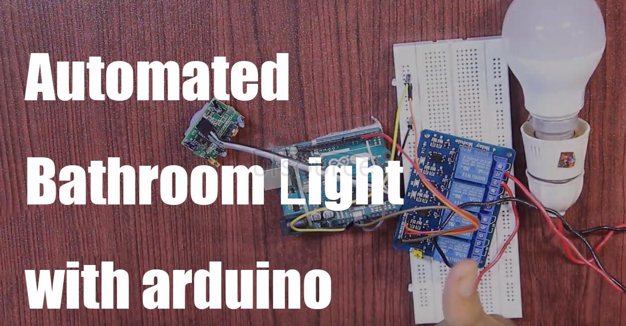 Automated bathroom light with arduino