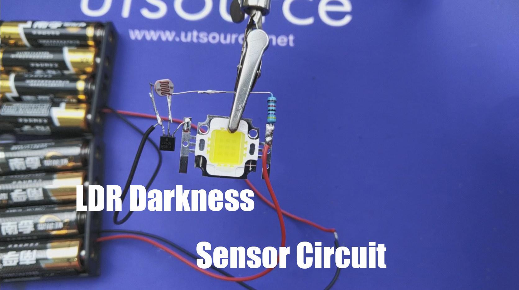 Simple LDR Darkness Sensor Circuit