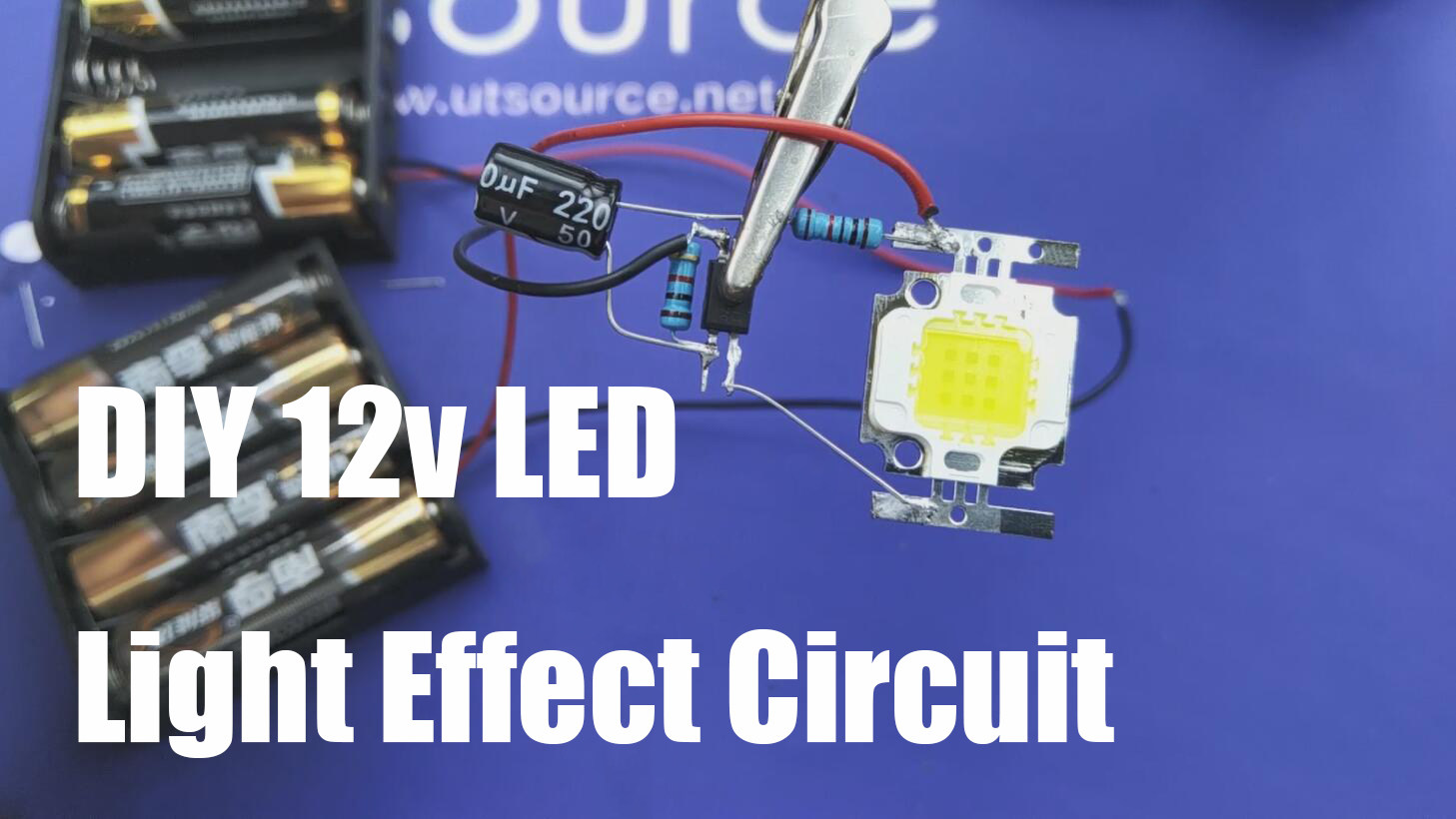 DIY 12v LED Light / Bike Flasher--Utsource