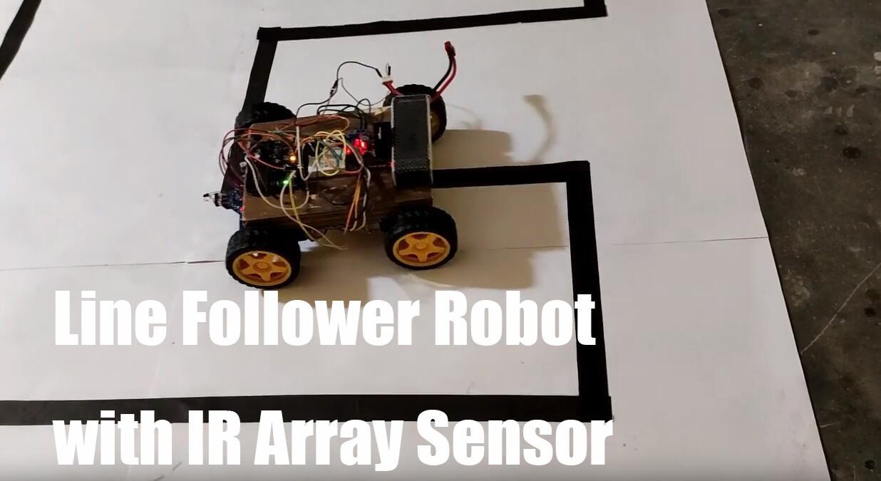 Line Follower robot with IR array Sensor