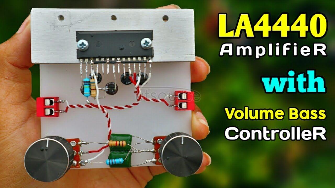 DIY Powerful Bass Amplifier with LA4440 IC