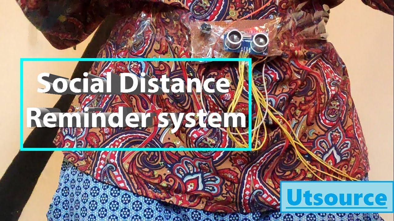 Social distance reminder system