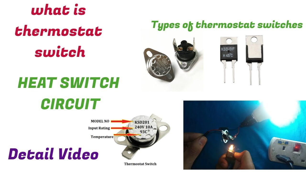 Temperature Sensor Thermostat Switch Circuit with KSD301