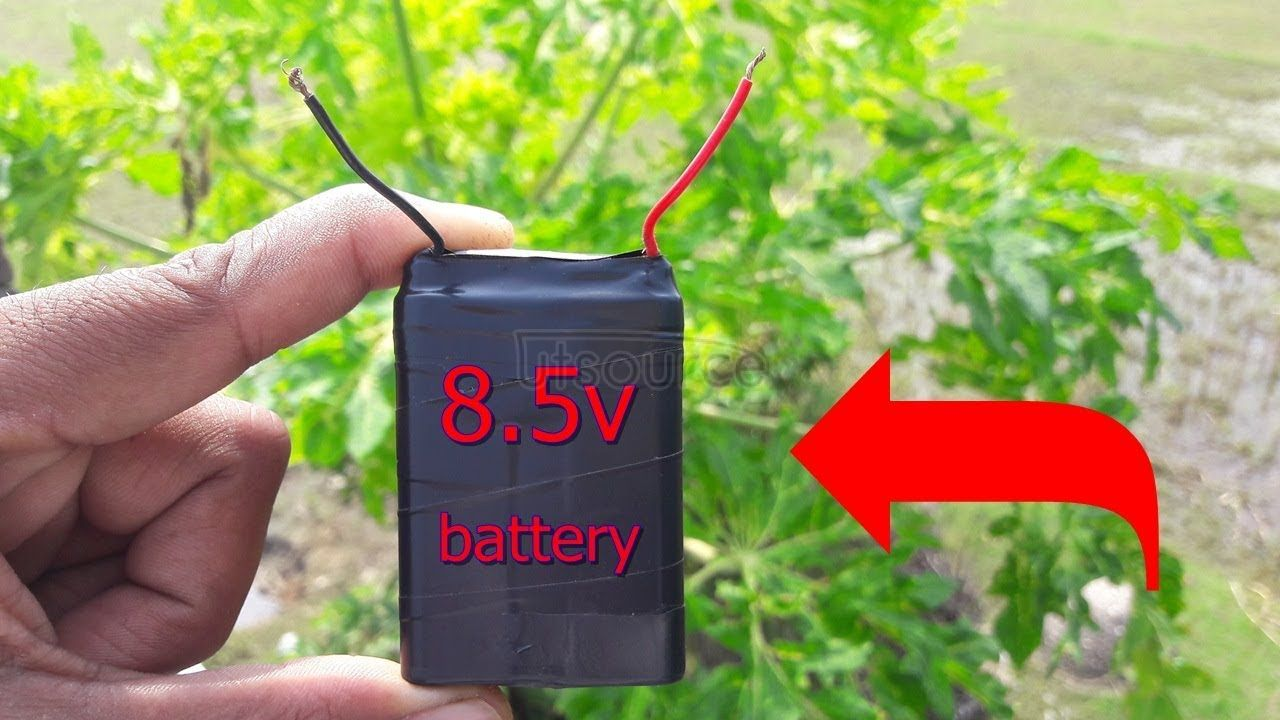 How to make 9volt battery at home?