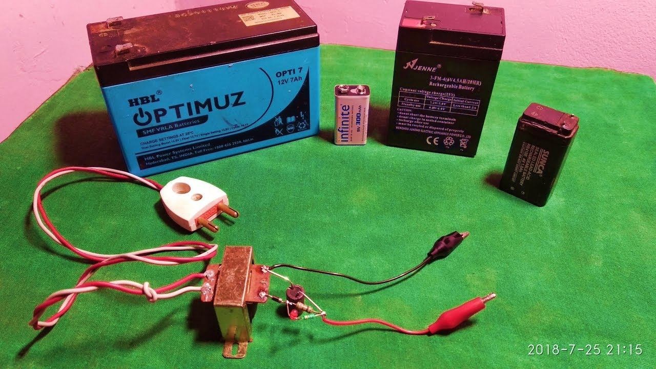 4 in 1, 4v, 6v, 9v,12v battery charger