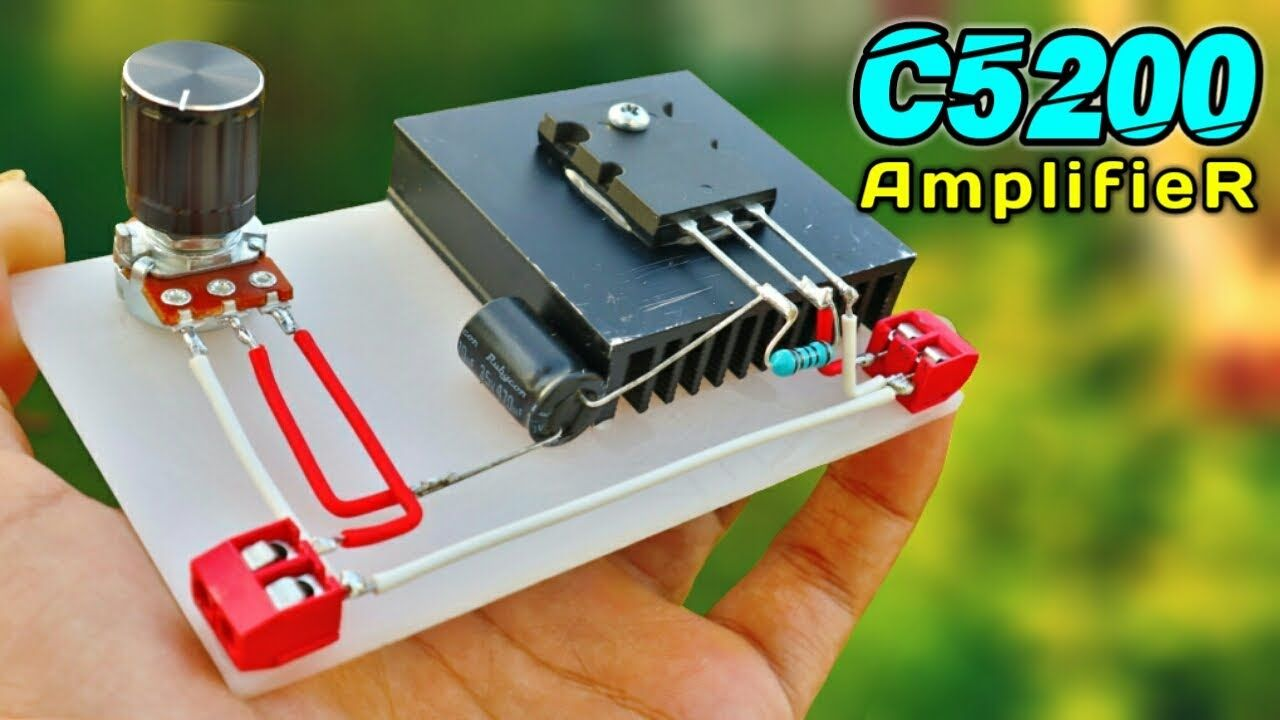 DIY Powerful Ultra Bass Amplifier Using 2SC5200 Transistor