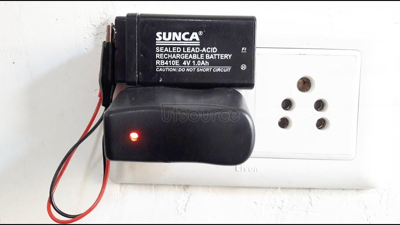 How to charge 4 volt battery, How to make 4v battery charger