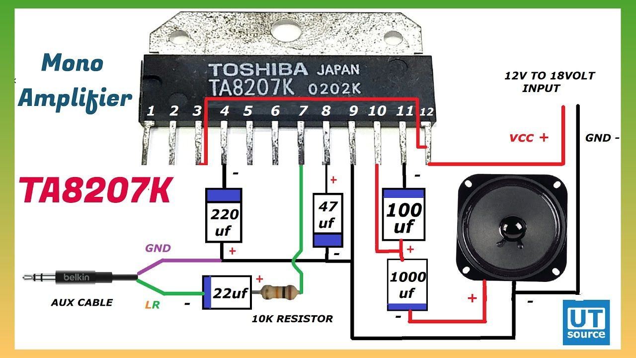 TA8207K Mono Audio Amplifier