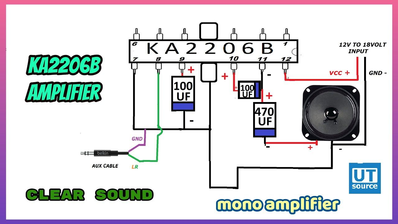 KA2206B IC mono Audio Amplifier