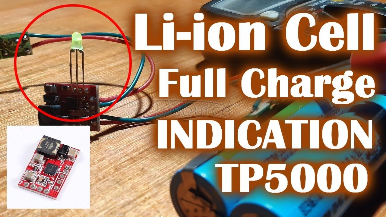 Lithium battery full charge indicator with TP5000