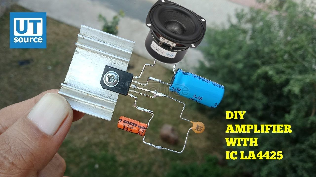 How to make simple amplifier using ic la4425