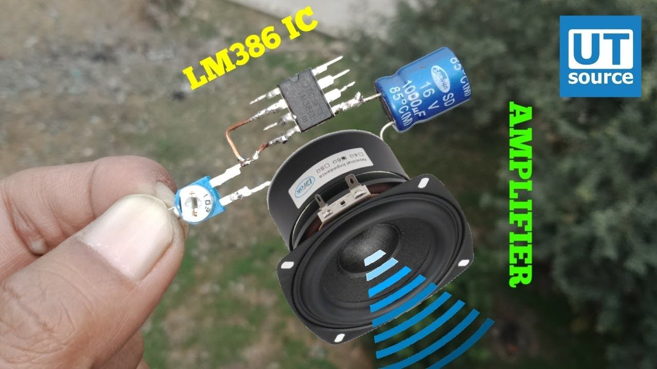 DIY AMPLIFIER WITH IC LM386
