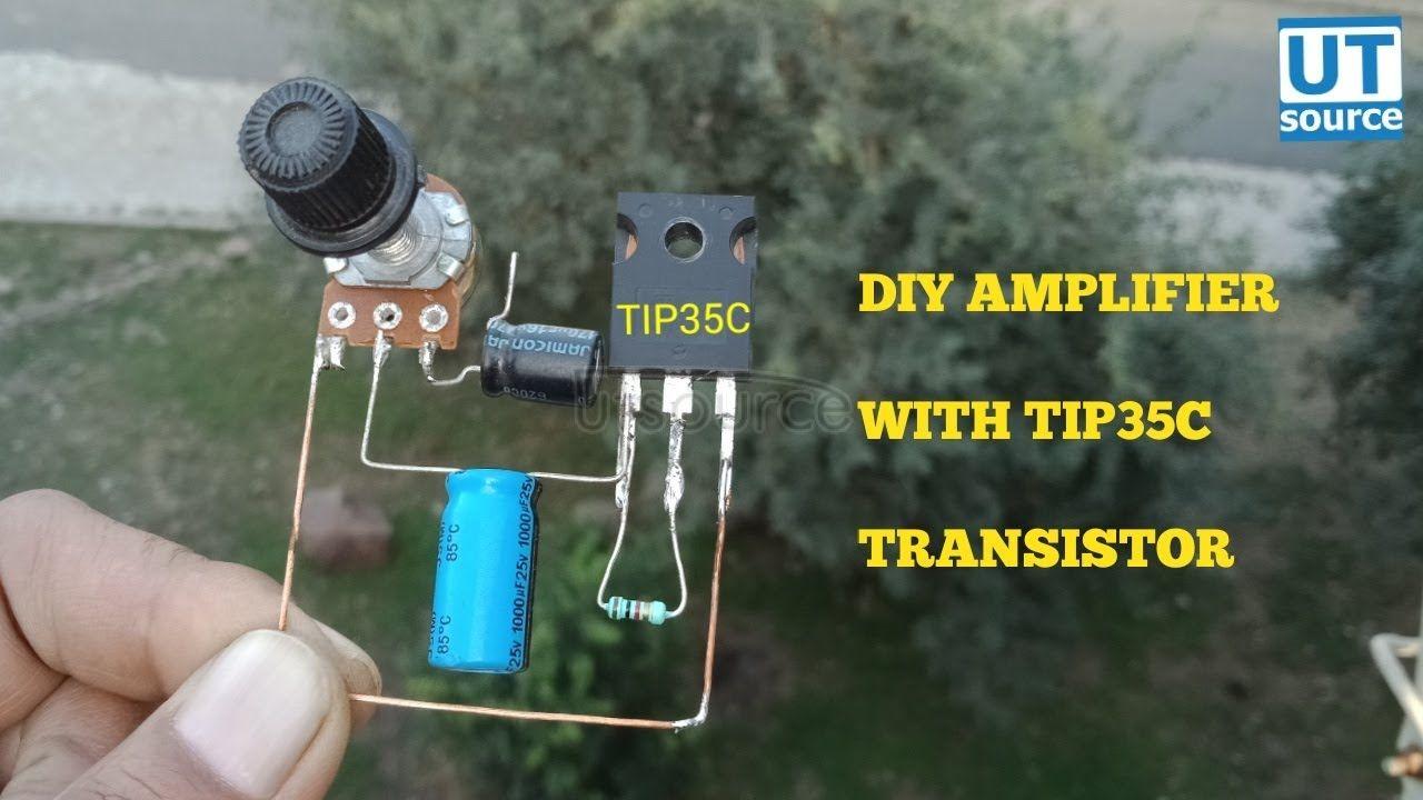 DIY AMPLIFIER WITH TRANSISTOR TIP35C