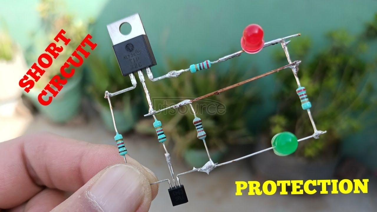 DIY SHORT CIRCUIT PROTECTION  WITH LED INDICATOR