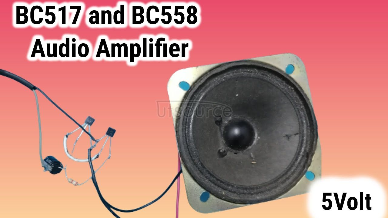 Dual Transistor Amplifier BC517 and Bc558 | 5volt Powerful Amplifier