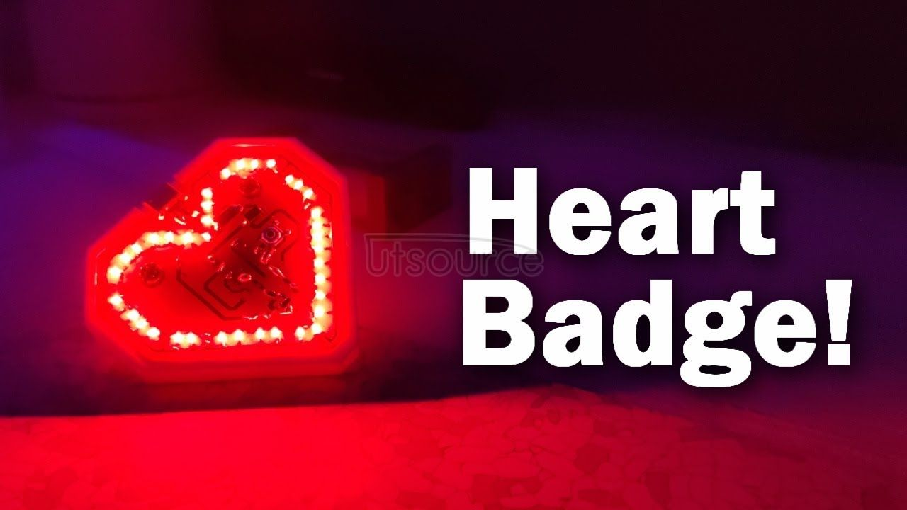 Attiny85 Heart Badge with SMD LEDs