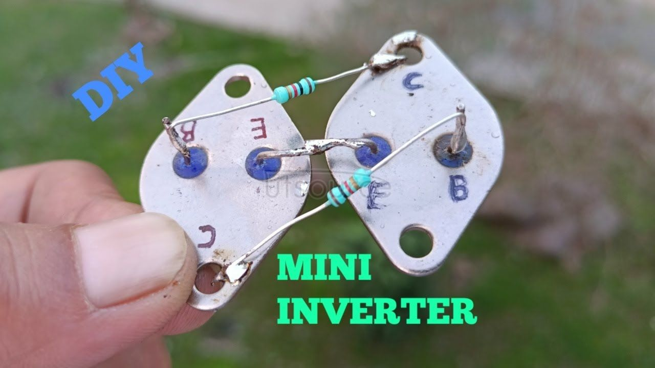 DIY MINI INVERTER USING TRANSISTOR 2N3055