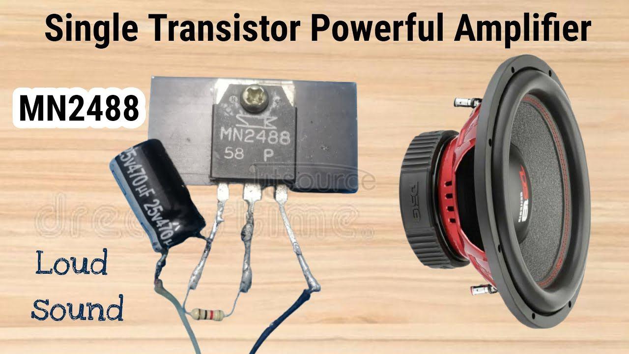 Single Transistor Powerful Audio amplifier MN2488 | USB Power