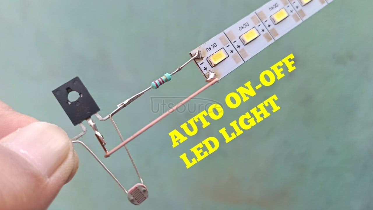 DIY AUTO ON/OFF LED LIGHT WITH TRANSISTOR BD139 & LDR.