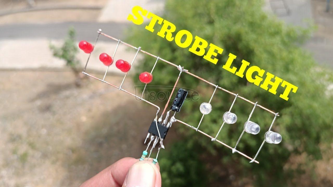 DIY STROBE LIGHT CIRCUIT WITH IC NE555