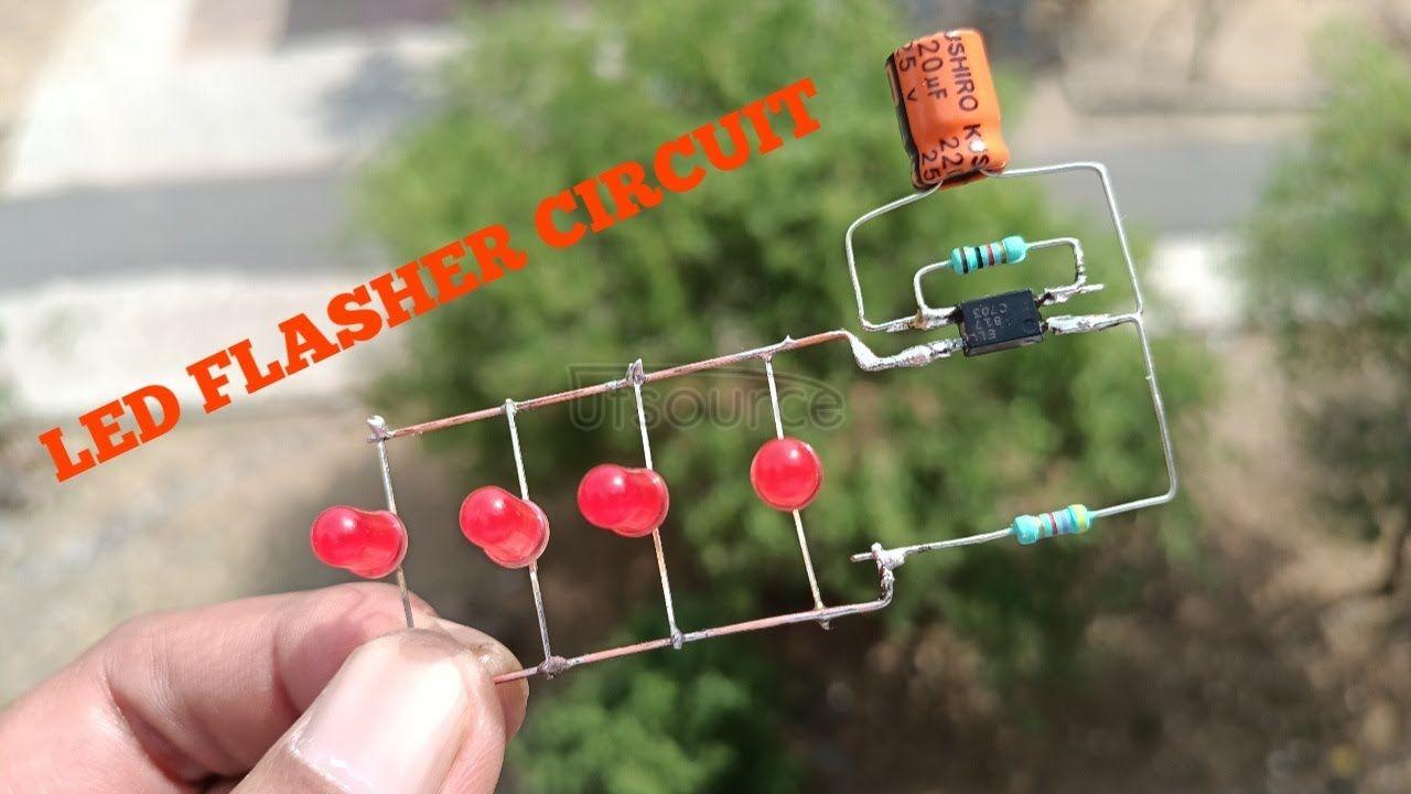 DIY LED FLASHER CIRCUIT USING OPTOCOUPLER 817