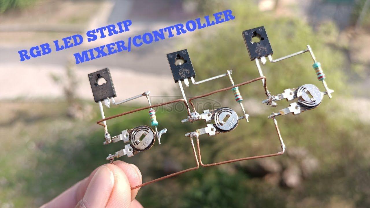 DIY RGB LED STRIP MIXER/CONTROLLER CIRCUIT USING TRANSISTOR BD139