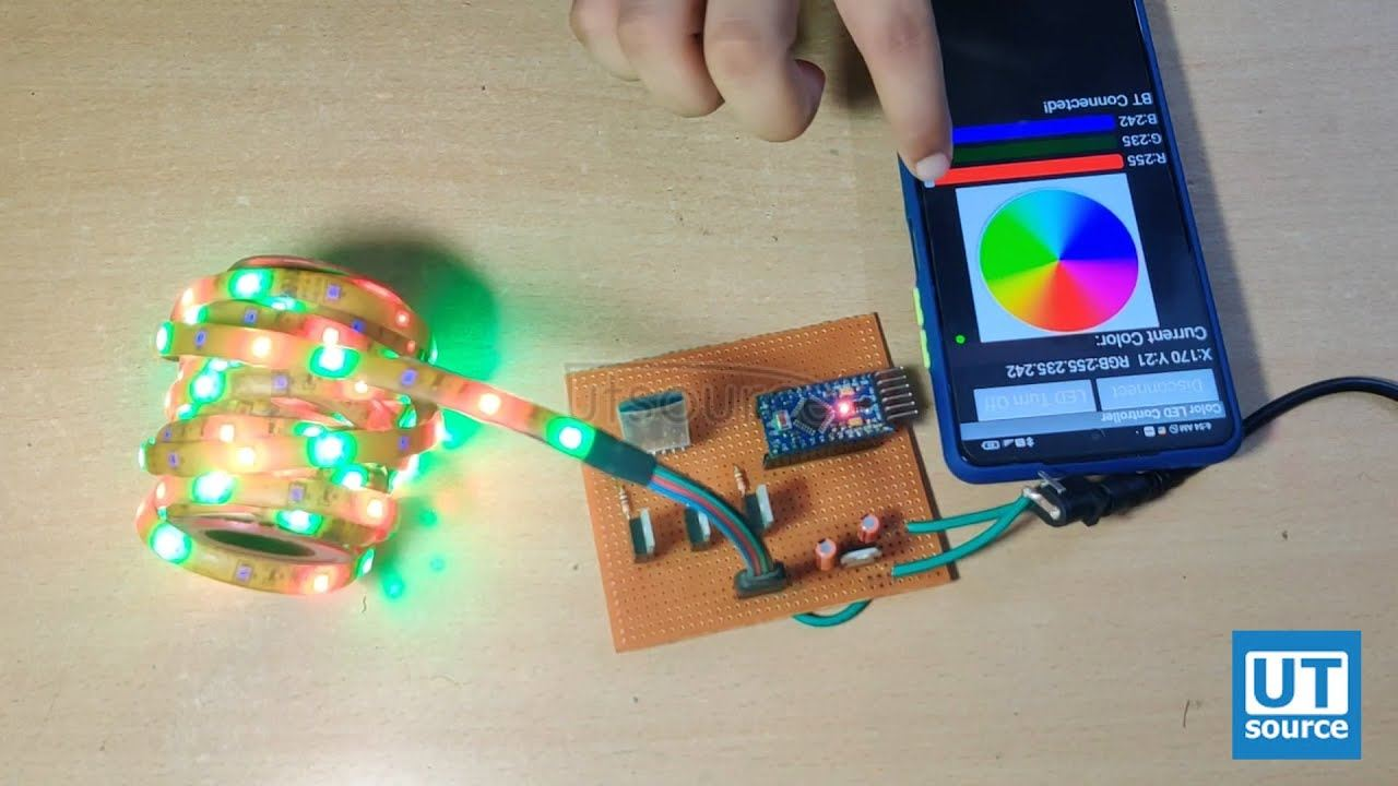 Bluetooth RGB LED Strip Controller using IRFZ44N