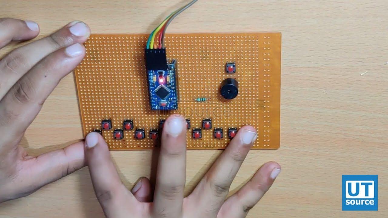 How to make a digital piano using arduino