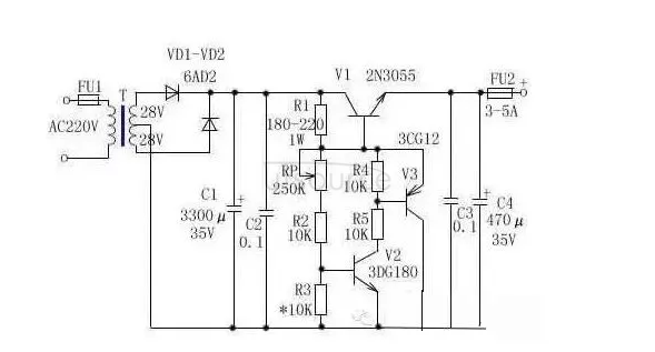Graphical regulated power supply, switching power supply, DC-DC power supply