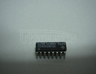 CD4053BF3A CMOS Analog Multiplexers/Demultiplexers with Logic Level Conversion