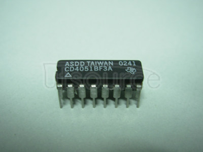 CD4051BF3A CMOS Single 8-Channel Analog Multiplexer/Demultiplexer with Logic-Level Conversion