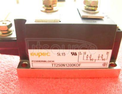TT250N1200KOF SCR / Diode Modules up to 1400V SCR / SCR Phase Control