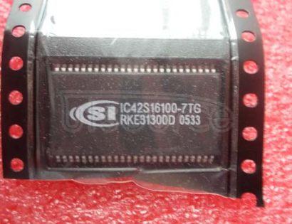 IC42S16100-7TG 512K x 16 Bits x 2 Banks 16-MBIT SYNCHRONOUS DYNAMIC RAM