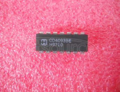 CD4093BE 2-Input Quad Nand Schmitt Trigger2