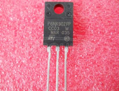 STP6NK90ZFP N-CHANNEL 900V - 1.56ohm - 5.8A TO-220/TO-220FP/D2PAK Zener-Protected SuperMESH⑩Power MOSFET