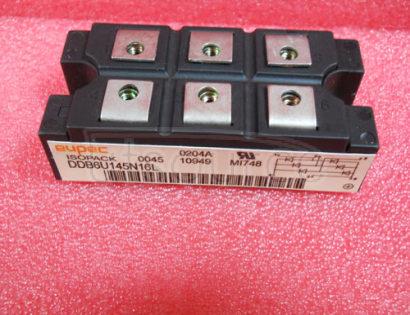 DDB6U145N16L Diode Bridges<br/> Package: AG-ISOPACK-1<br/> VDRM/ VRRM V: 1,600.0 V<br/> IFSM max: 1,000.0 A<br/> Configuration: 3 phase bridge rectifier uncontrolled<br/> Housing: IsoPACK&#153<br/><br/>