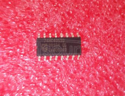 74HC4053D Triple 2-channel analog multiplexer/demultiplexer