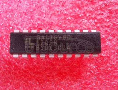 GAL16V8D-15QPN CMOS GAL EEPLD, 16V8, DIP20, 5.25V<br/> Logic IC family:Programmable GAL<br/> Logic IC function:Programmable GAL<br/> Voltage, supply:5.25V<br/> Case style:DIP<br/> Base number:16<br/> Current, supply max:55mA<br/> IC Generic number:16V8<br/> Inputs, No. of:16<br/> RoHS Compliant: Yes