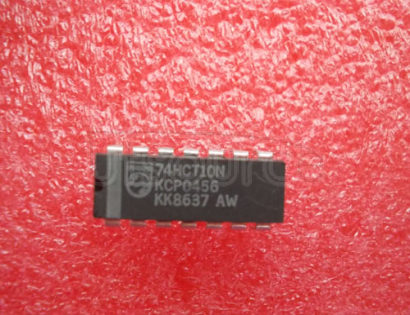 74HCT10N Triple 3-input NAND gate - Description: Triple 3-Input NAND Gate; TTL Enabled ; Logic switching levels: TTL ; Number of pins: 14 ; Output drive capability: +/- 4 mA ; Power dissipation considerations: Low Power ; Propagation delay: 11 ns; Voltage: 4.5-5.5V